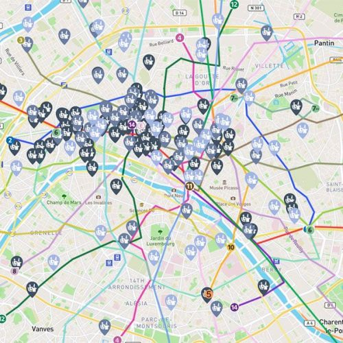 Carte des bureaux en Coworking à Paris