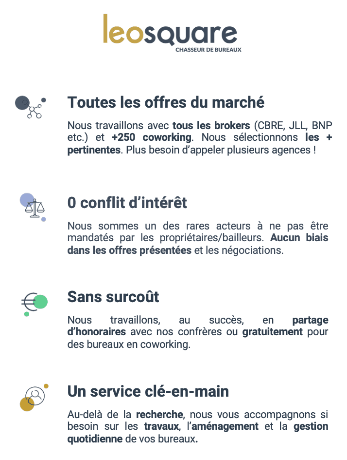 Location de bureaux à Paris Leosquare