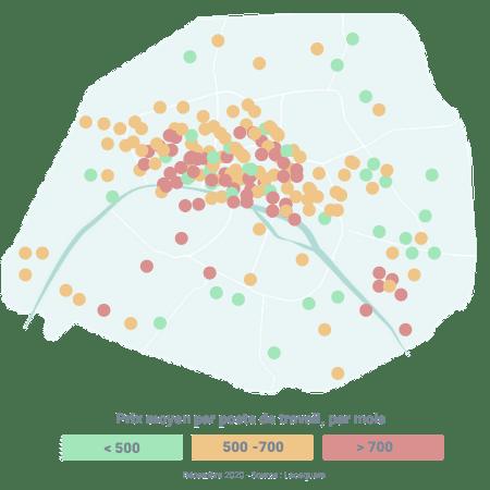 Carte des espaces de coworking à Paris