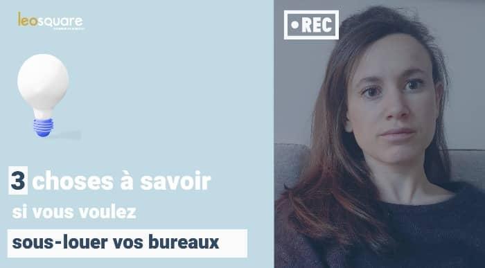 Sous-location de bureaux a Paris - Video